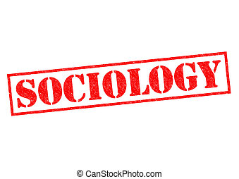 SOCIOLOGY red Rubber Stamp over a white background