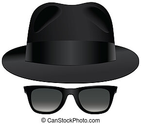 Fedora sunglasses - A classic set of black fedora and...