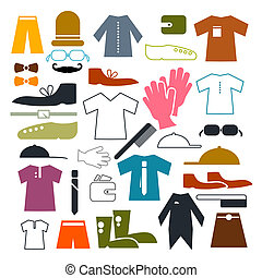 Clothing Vector Icons Set Vector Illustration