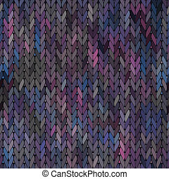 Knitted vector Seamless Fabric Pattern - Knitted abstract...