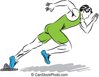professional runner illustration