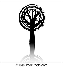 ecology tree quot;HELPquot; - ecology tree HELP, vector