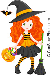 Witch - Little Witch goes to Halloween.