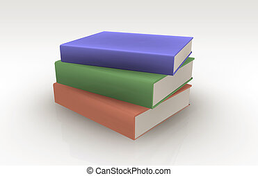 Colorful Books in a Group Messy Heap