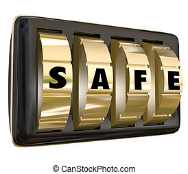 Safe Word Lock Dials Secret Security Safety Secured Password...