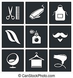 Hair salon icon collection