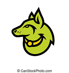 Wolf head sign - Branding identity corporate logo isolated...