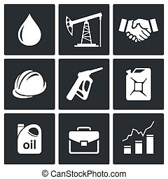 Petroleum industry icon collection - Petroleum industry icon...