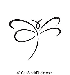 Butterfly sign - Branding identity corporate logo isolated...