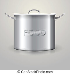 Illustration of high aluminum saucepan - Aluminum high...
