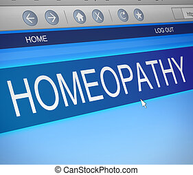 Homeopathy concept. - Illustration depicting a computer...