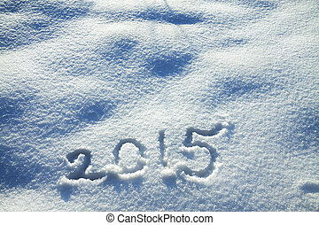 New Years and Christmas background from snow - abstract New...