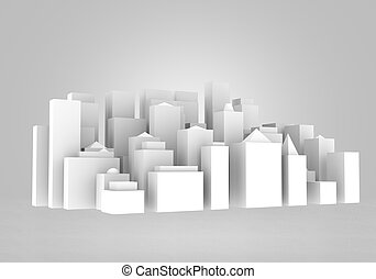 Urban construction - Background image with sketch of...