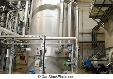 reservoir tanks sludge digester storage dry biogas - Huge...