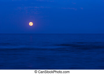Full moon over the  sea - Full moon over the Black Sea