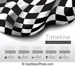 Social media icon background - checkered race flag Racing...