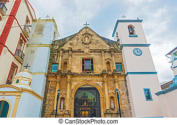 Panama city old catholic church La Iglesia de la Merced -...