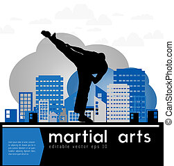 Karate, vector illustration, eps 10