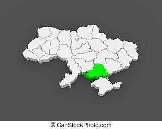 Map of Kherson region. Ukraine.