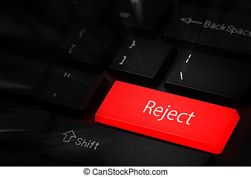Reject button keyboard