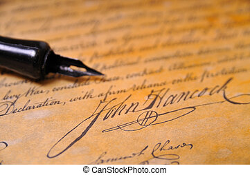 Declaration of Independence - John Hancocks famous signature...