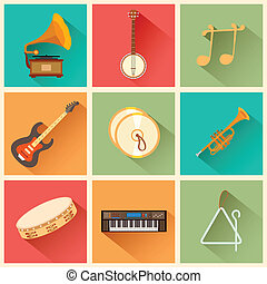 Music instrument - illustration of music instrument in flat...
