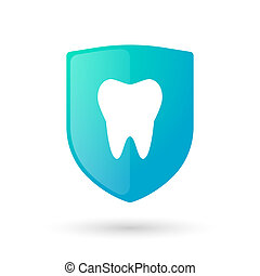 Shield icon with a tooth