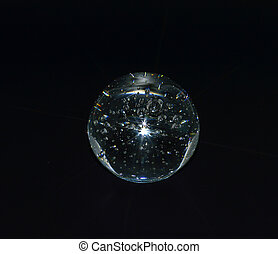 Glass, Paperweight - Glass paperweight crystal clear color...