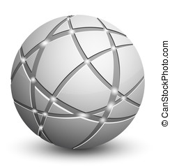 Abstract globe - Global communication icon. Abstract globe....