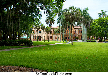 Ringling Circus Museum in Sarasota Florida - View of the...