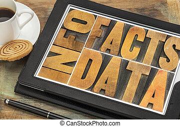 información, datos, hechos, Om, tableta