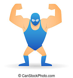 Wrestler - Illustration of a isolated wrestler