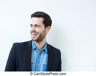 Portrait of an attractive young man smiling