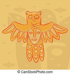 vector Permian bronze gods - vector Permian animal style,...