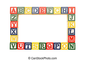 Alphabet Frame - An alphabet frame for inserting your...