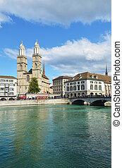 Zurich across Limmat river