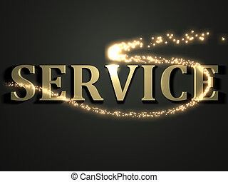 SERVICE- 3d inscription with luminous line with spark on...