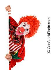 femme, vacances, clown