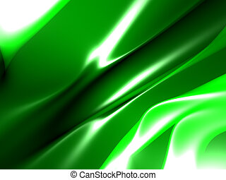 Green yellow abstract background with folds