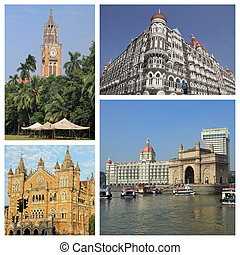 group of images with   Mumbai city