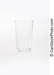 Empty clean drinking glass cup Transparent glass isolated on...