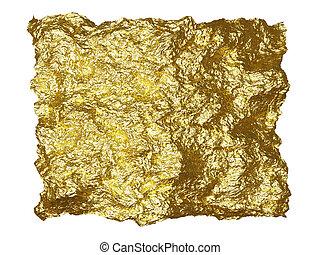 Gold foil patch