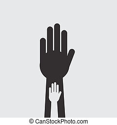 Hand Inside Hand Silhouette