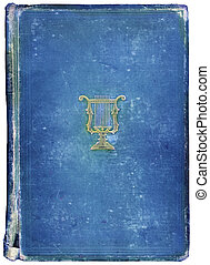 Worn antique book with Musical Symbol