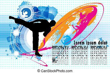 Karate, vector illustration, eps 10