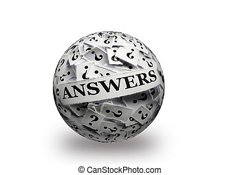 answers on  question marks 3d ball