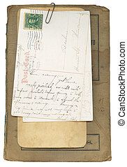 Antique Book and Postcards - Antique Book Cover and...