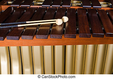 Marimba, teclas, resonators