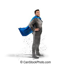 Super businessman - Concept of successful businessman like a...