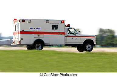 Ambulance driving fast - Emergency ambulance driving very...